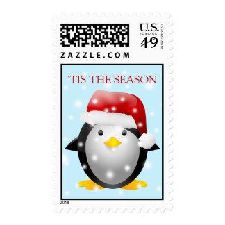 Santa Penguin Postage Stamps