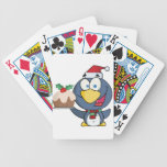 Santa Penguin with Christmas Cake Bicycle Playing Cards