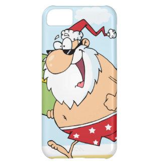 Santa-Persona que practica Surf-En--Playa Funda Para iPhone 5C