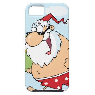 Santa-Persona que practica Surf-En--Playa Funda Para iPhone SE/5/5s