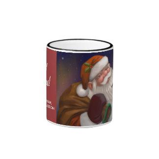 Santa personalizado en la taza del regalo de Polo