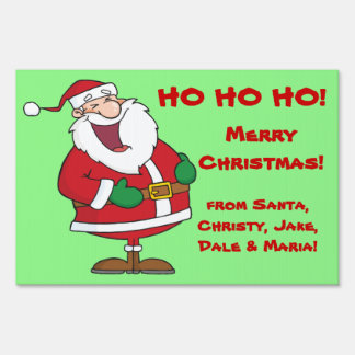 Santa Personalized Christmas Yard Sign