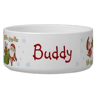 Santa Pet bowl