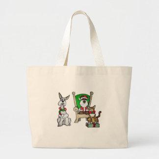 Santa Pets Jumbo Tote Bag
