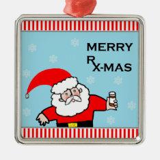 Santa Pharmacist Metal Ornament at Zazzle