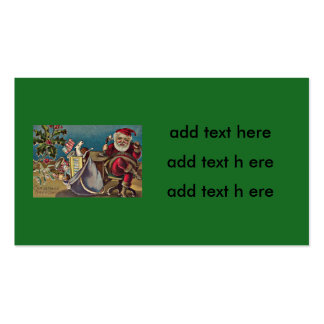 Santa Phone Sack of Toys Holly Double-Sided Standard Business Cards (Pack Of 100)