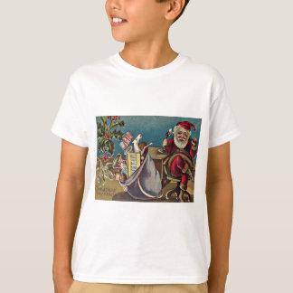 Santa Phone Sack of Toys Holly T-Shirt