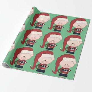 Santa Pig Claus Wrapping Paper