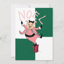 Santa Pig Holiday Card
