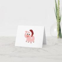 Santa Pig Holiday Card