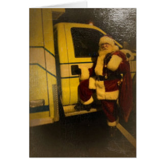 Santa pimped his ride greeting card