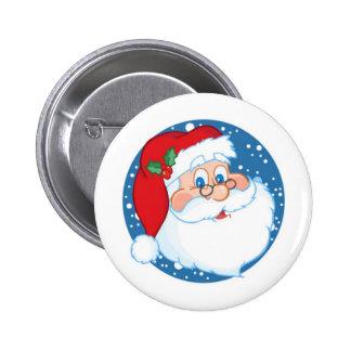 Santa Pinback Button