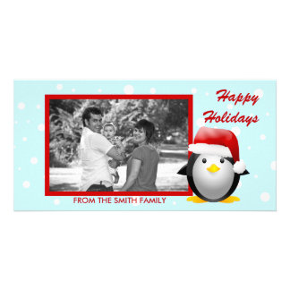 Santa Pingu Photo Card
