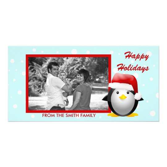 Santa Pingu Photo Card