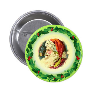 SANTA & PIPE by SHARON SHARPE Pinback Button