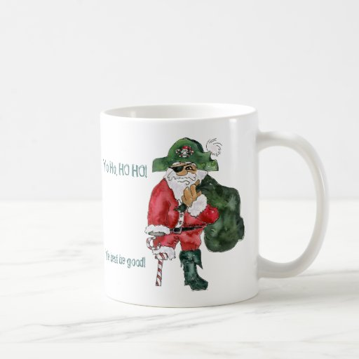 Santa Pirate Christmas Mug