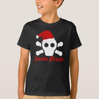 Santa Pirate - Cute Pirate Scull with Santa Hat T-Shirt