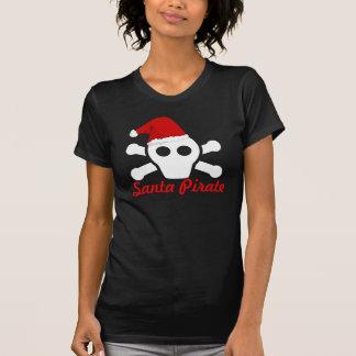 Santa Pirate - Cute Pirate Skull with Santa Hat T-Shirt