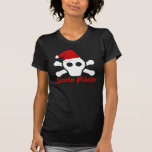 Santa Pirate - Cute Pirate Skull with Santa Hat Tshirts