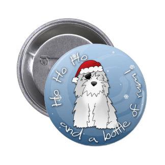Santa Pirate Old English Sheepdog Buttons
