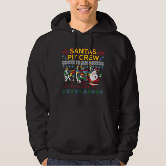 Santa Pit Crew Race Car Ugly Christmas Sweater