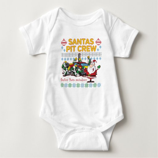 Santa Pit Crew Race Car Ugly Christmas Sweater Tee Shirts