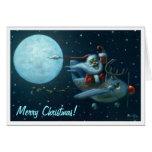 Santa Plane Card