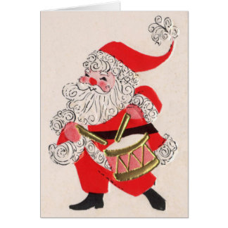 Santa playing a Drum Card