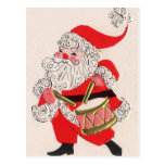 Santa playing a Drum Postcard
