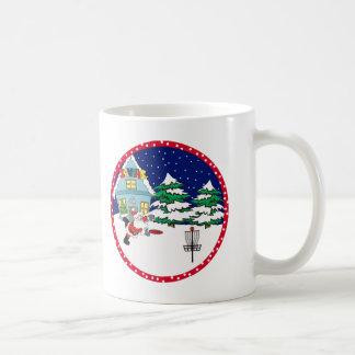 Santa Playing Disc Golf Coffee Mug