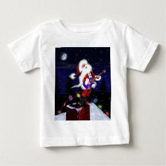Santa Plays Guitar Baby T-Shirt