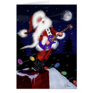 Santa Plays Guitar Card