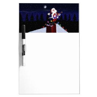 Santa Plays Guitar Dry Erase Board