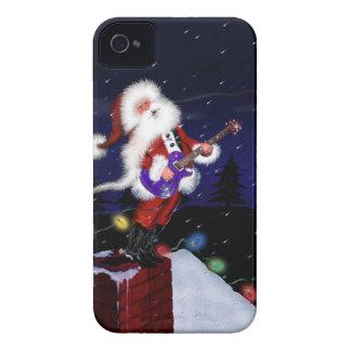 Santa Plays Guitar iPhone 4 Case-Mate Case