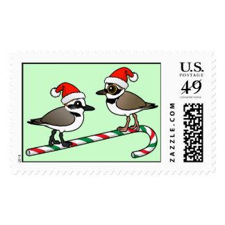Santa Plovers Postage Stamp