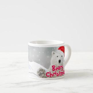 Santa Polar Bear | Beary Christmas Espresso Mug