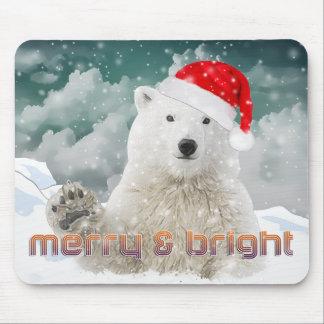 Santa Polar Bear | Beary Christmas Mousepad