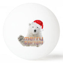 Santa Polar Bear   Beary Christmas Ping Pong Ball
