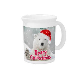 Santa Polar Bear | Beary Christmas Pitcher