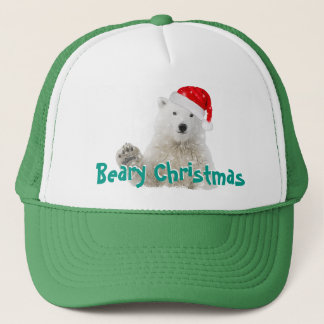 Santa Polar Bear | Beary Christmas Trucker Hats