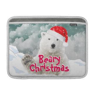 Santa Polar Bear   Beary Xmas Macbook Air Sleeve