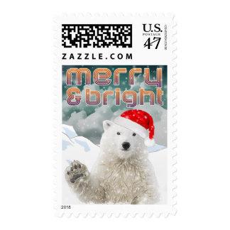 Santa Polar Bear   Christmas Holiday Postage stamp