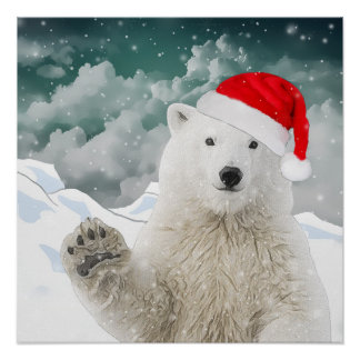 Santa Polar Bear | Poster