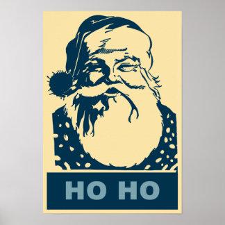 Santa Pop art Merry Christmas Ho Ho Poster