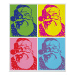 Santa Pop art Merry Christmas Print
