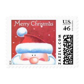 Santa postage stamp stamp