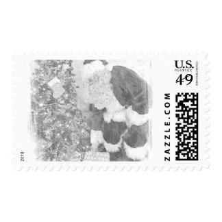 Santa Postage Stamp