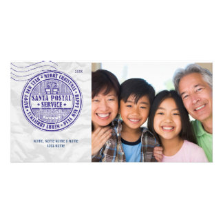 Santa Postal Cancellation Stamp Photo Card