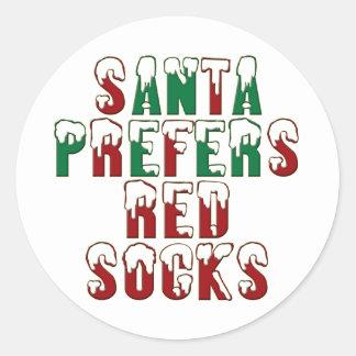 Santa prefers Red Socks, Boston Sox funny LOL Chri Sticker
