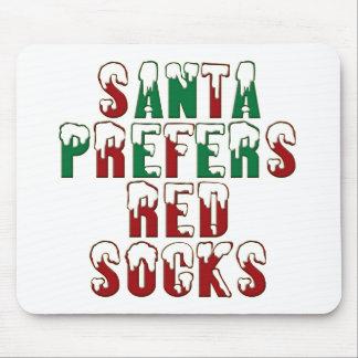 Santa prefiere los calcetines rojos Sox LOL diver Tapetes De Raton